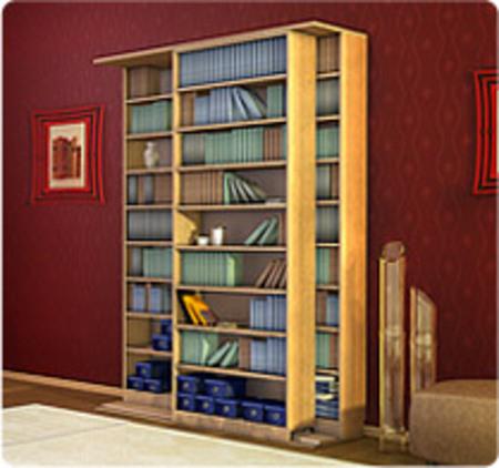 Шкаф книжный двойной.